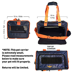 Small JetPaws Pet Carrier - 16 in. L x 8.5 in. H x